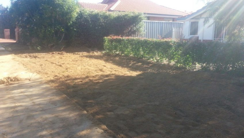 Lawn removal in Perth